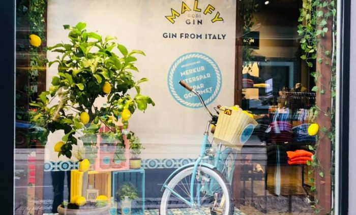 Malfy Gin Window Display